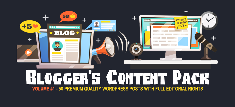 Blogger's Content Pack